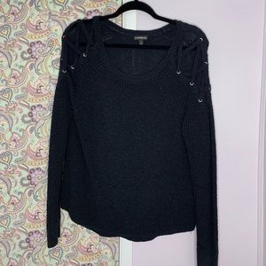 Express Lace-up Shoulder Sweater